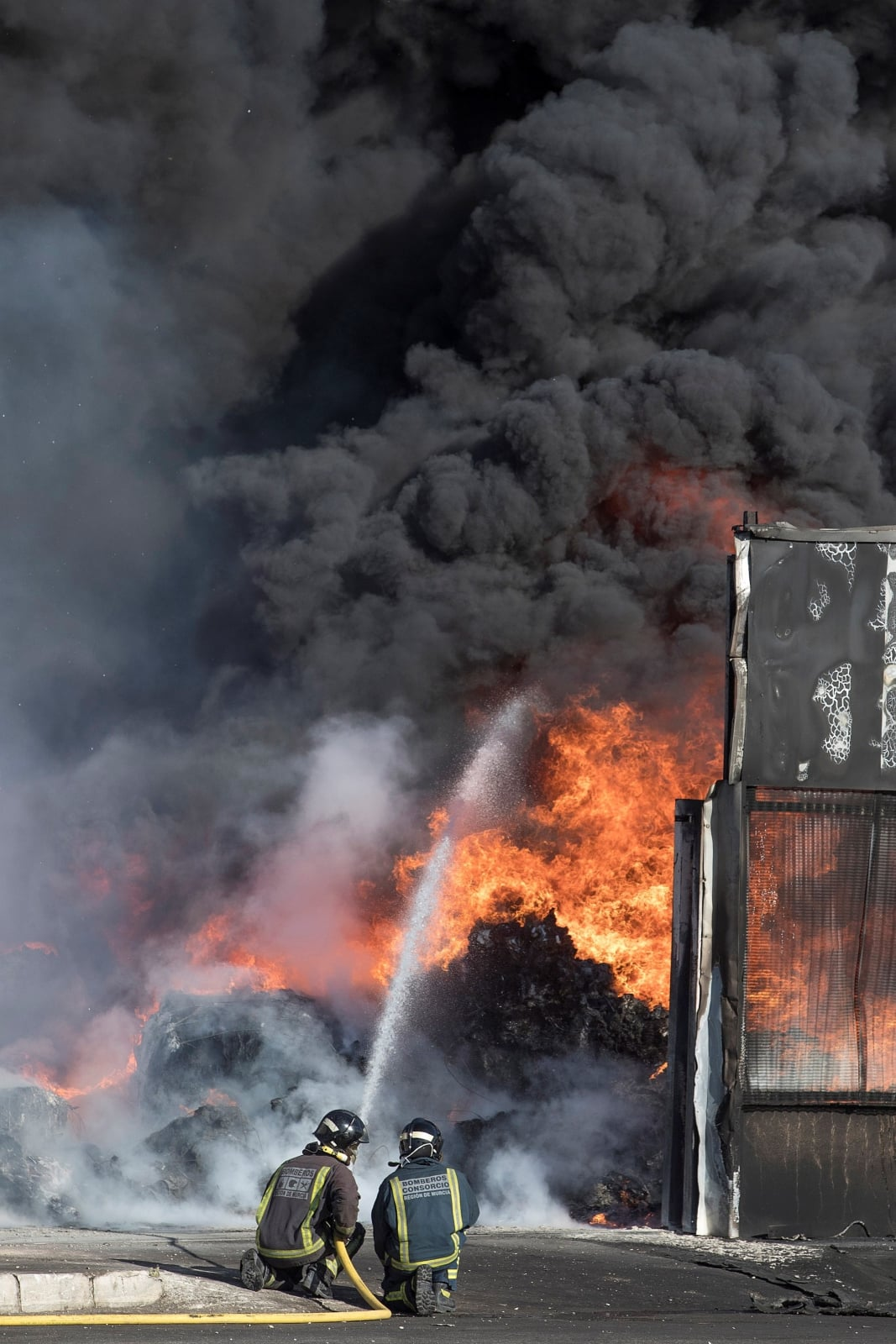 Pożar w Hiszpanii fot. EPA/Marcial Guillén