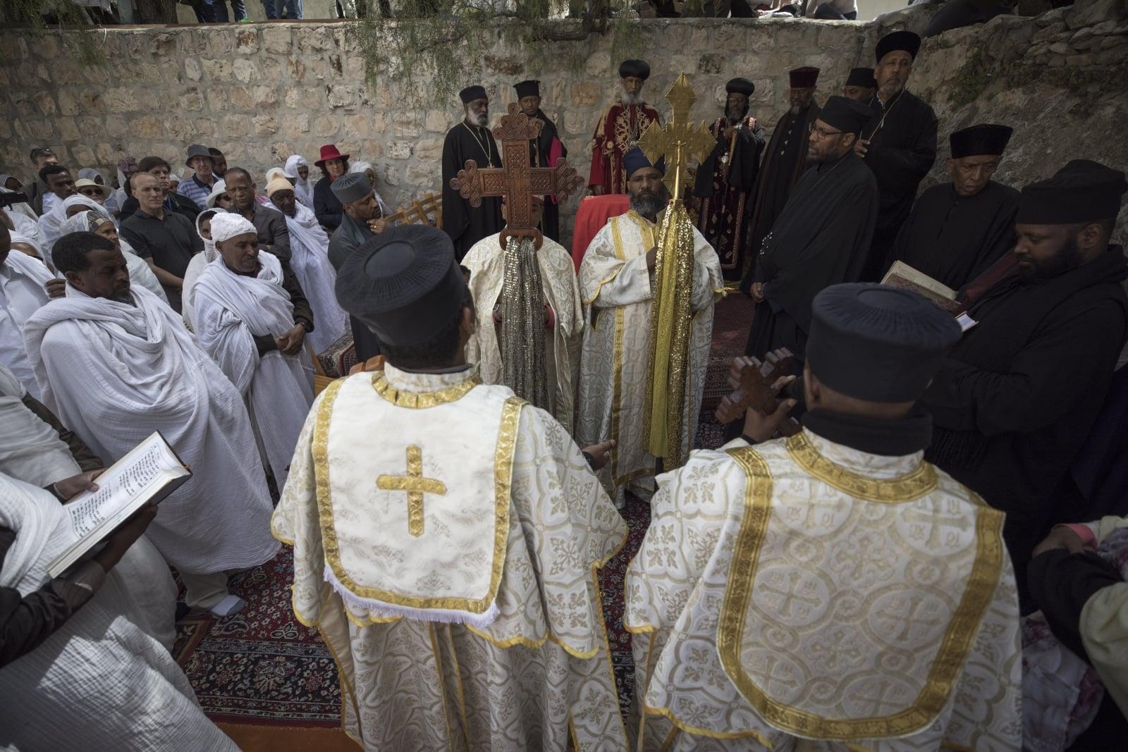 Wielki Tydzień w Kościele etiopskim  EPA/ATEF SAFADI