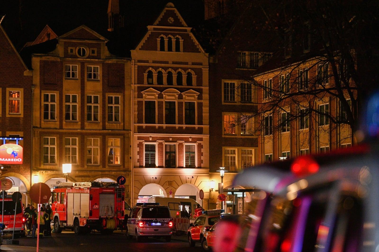 Miejsce ataku w Muenster, Niemcy
