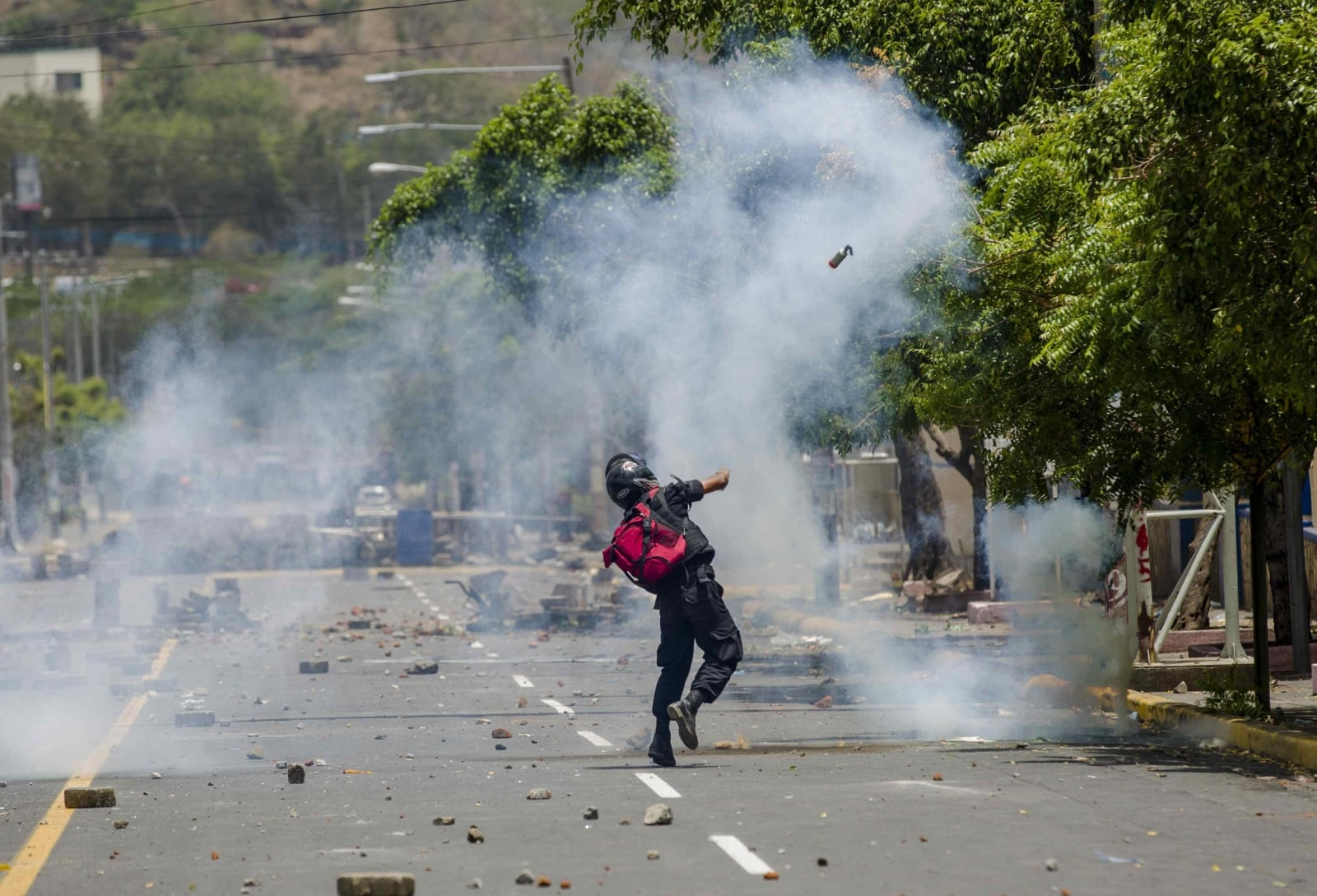 Zamieszki w Managua w Nikaragui