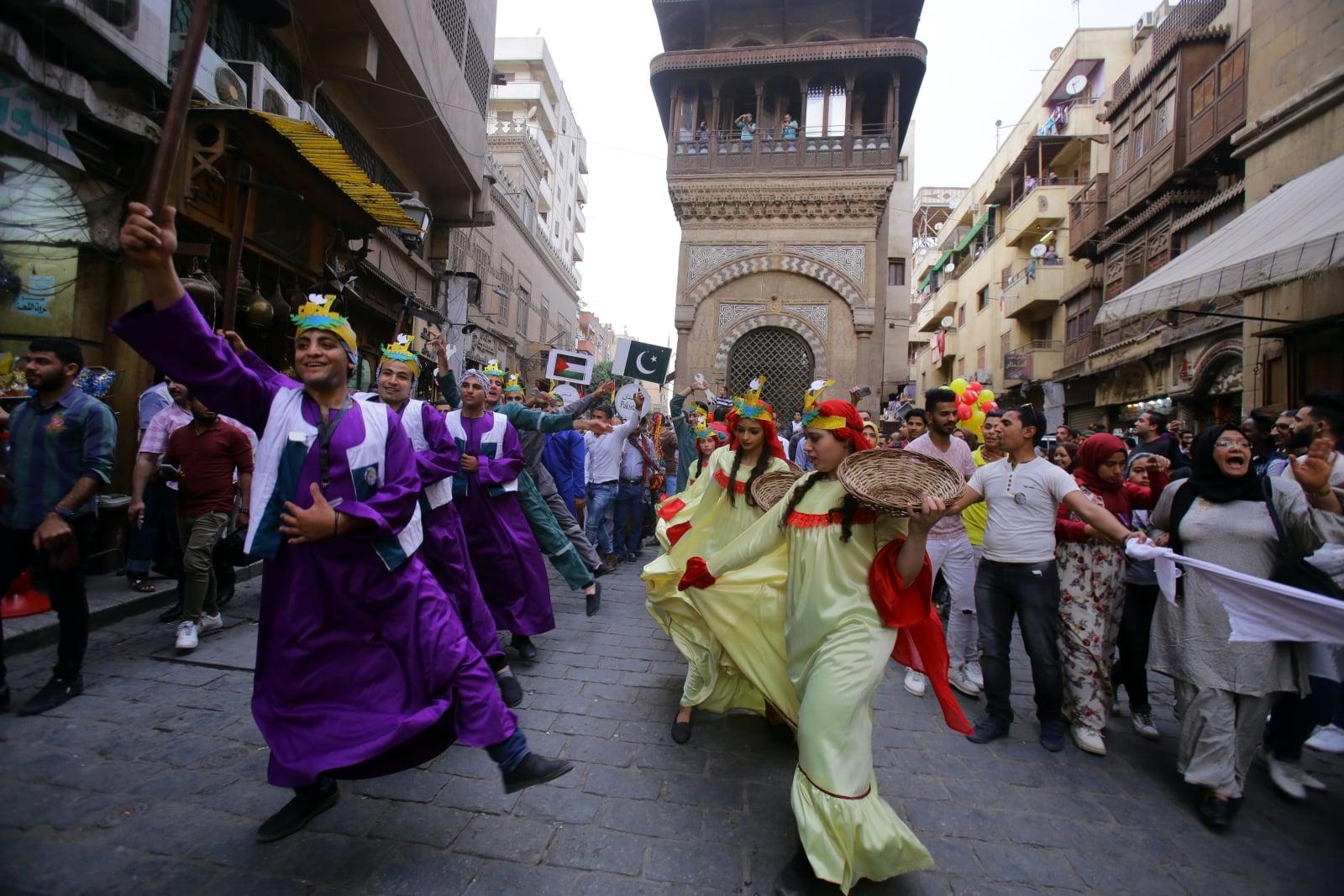 Międzynarodowy Festiwal Bębnów w Kairze fot. EPA/KHALED ELFIQI