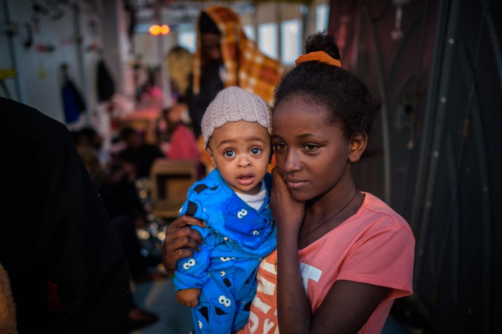 Uchodźcy nad Morzem Śródziemnym fot. EPA/CHRISTOPHE PETIT TESSON