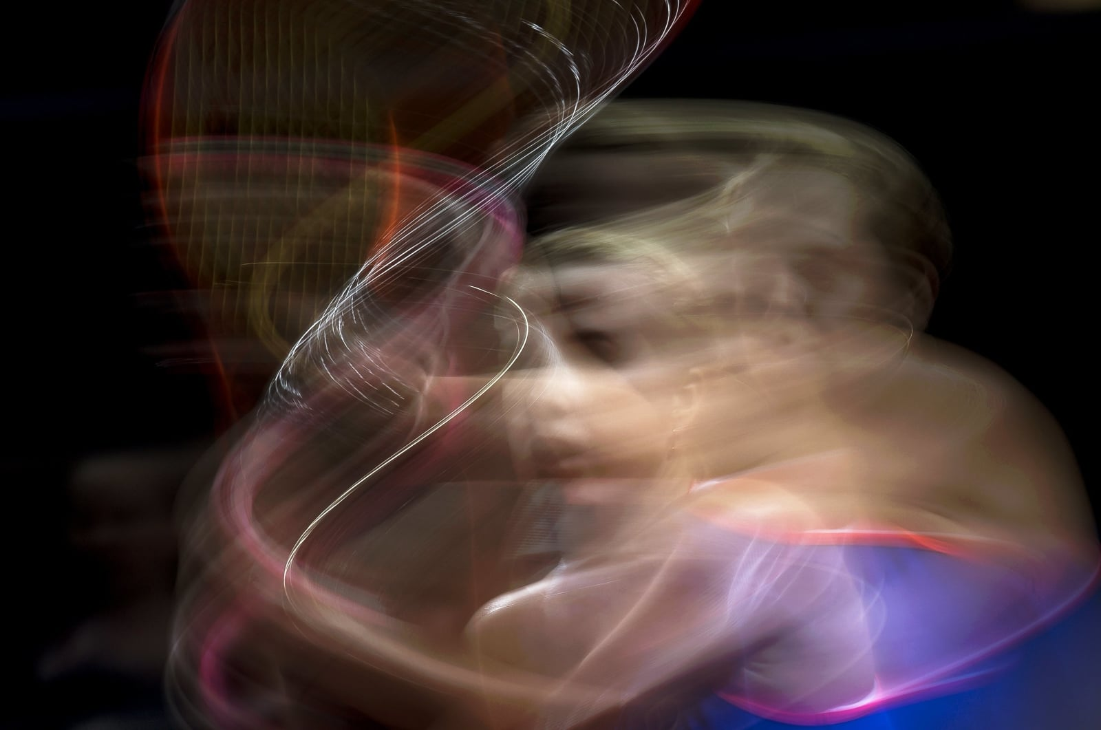 Zdjęcie Anastasiji Pawluczenkowej w trakcie Porsche Tennis Grand Prix w Stuttgarcie, Niemcy.