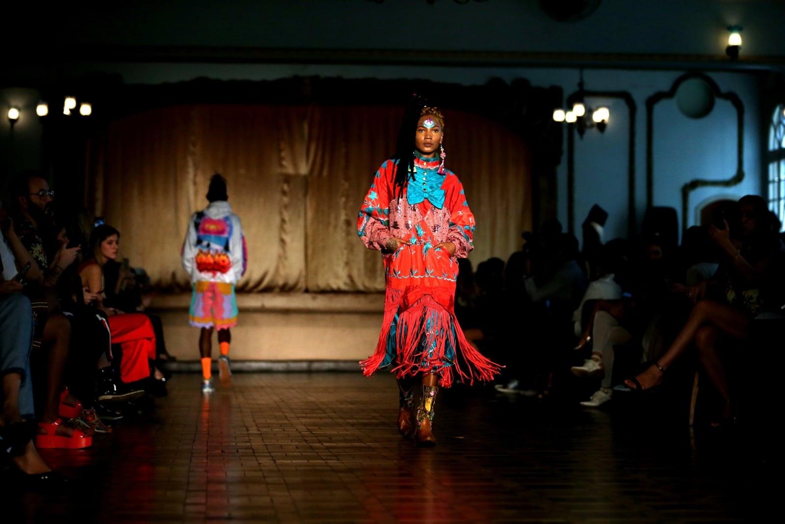 Pokaz mody - Sao Paolo w Brazylii fot. EPA/FERNANDO BIZERRA JR