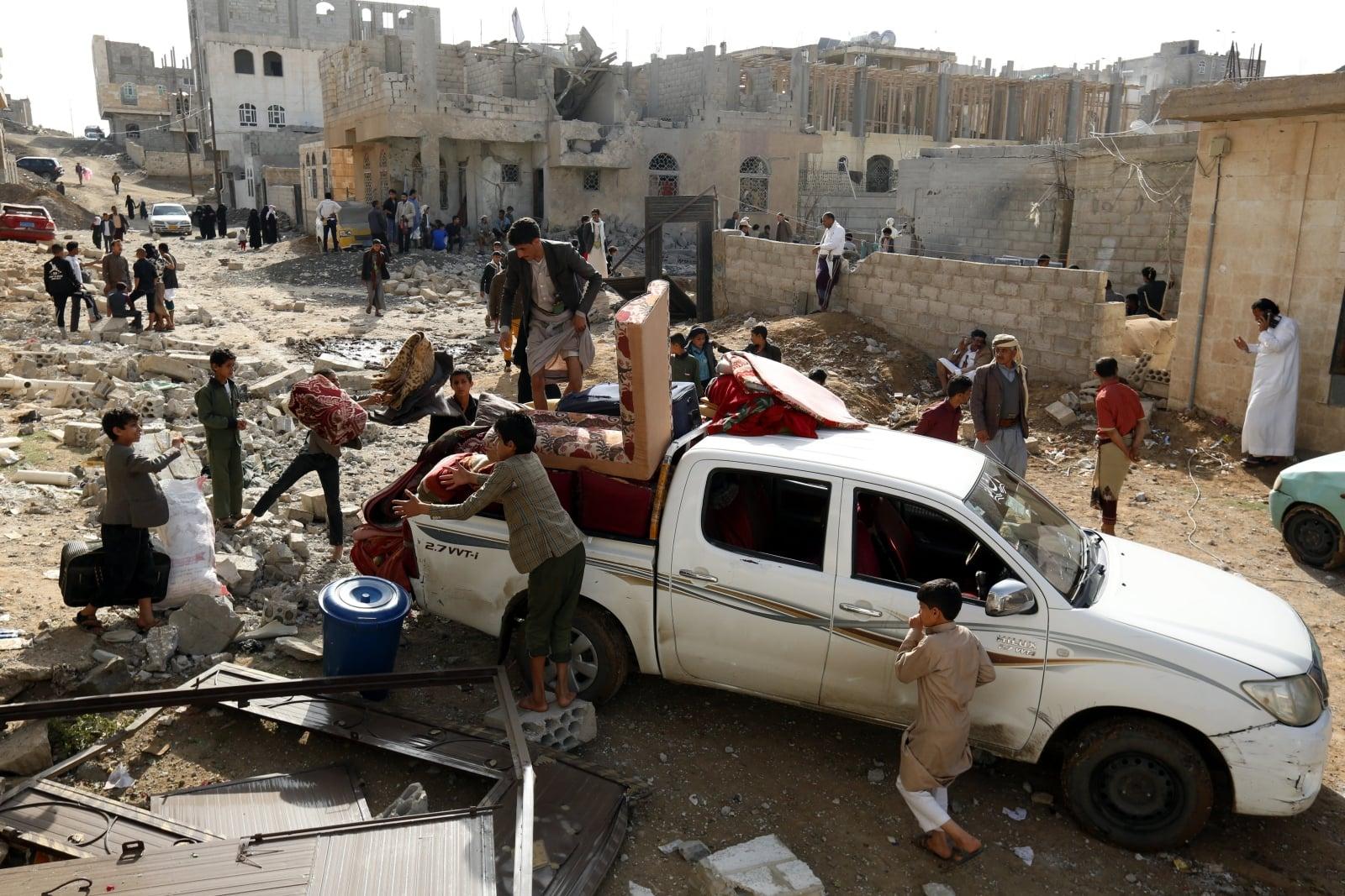 Konflikt w Jemenie fot. EPA/YAHYA ARHAB