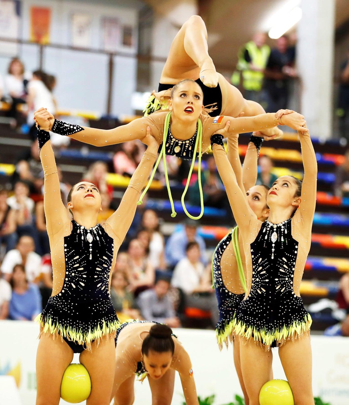 Zawody gimnastyczne w Hiszpanii fot. EPA/JAVIER LOPEZ HERNANDEZ