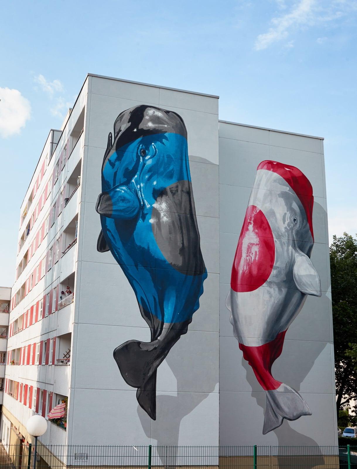 Sztuka uliczna w Berlinie fot. EPA/HAYOUNG JEON