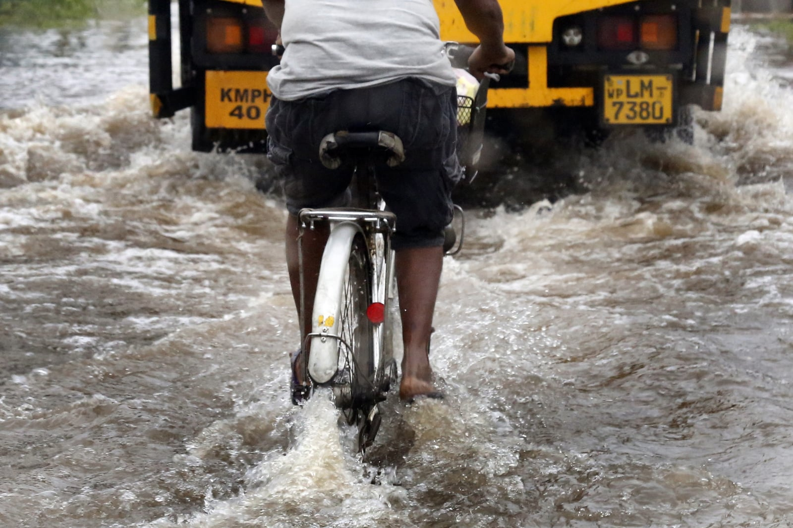 Sri Lanka - powódź EPA/M.A.PUSHPA KUMARA