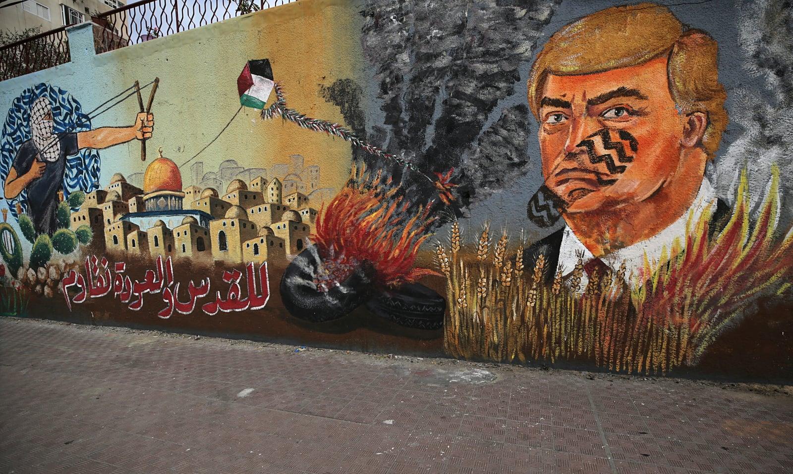 Murale w Strefie Gazy