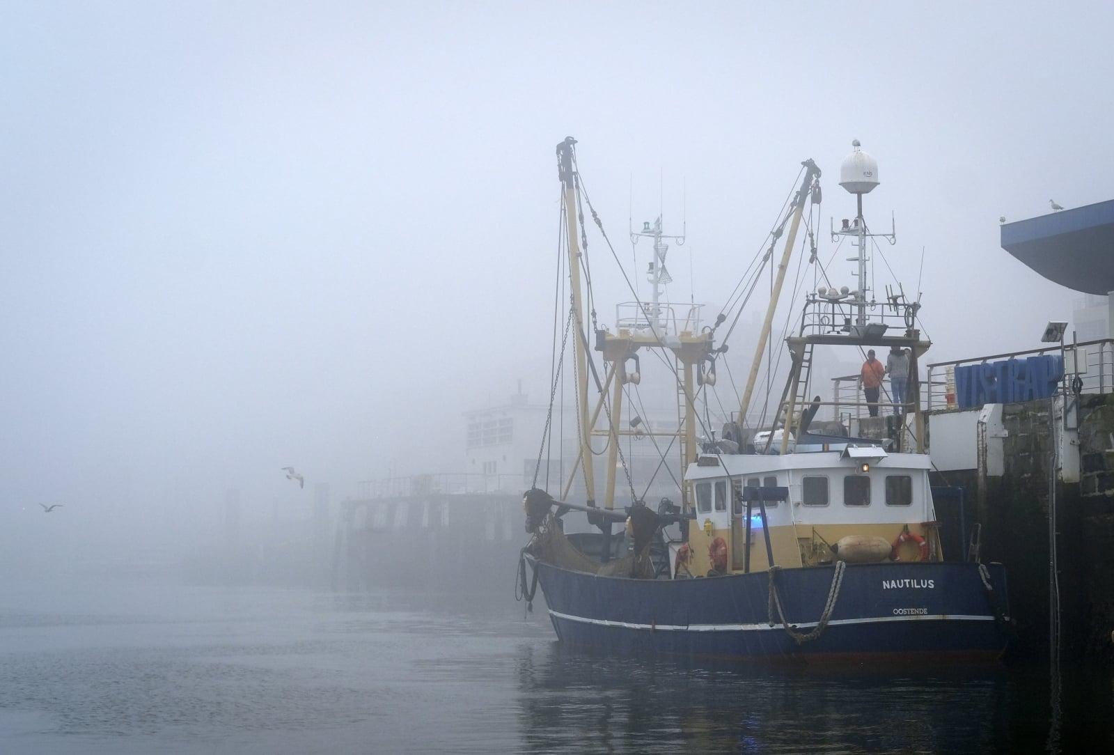 Połów ryb w Belgii fot. EPA/OLIVIER HOSLET