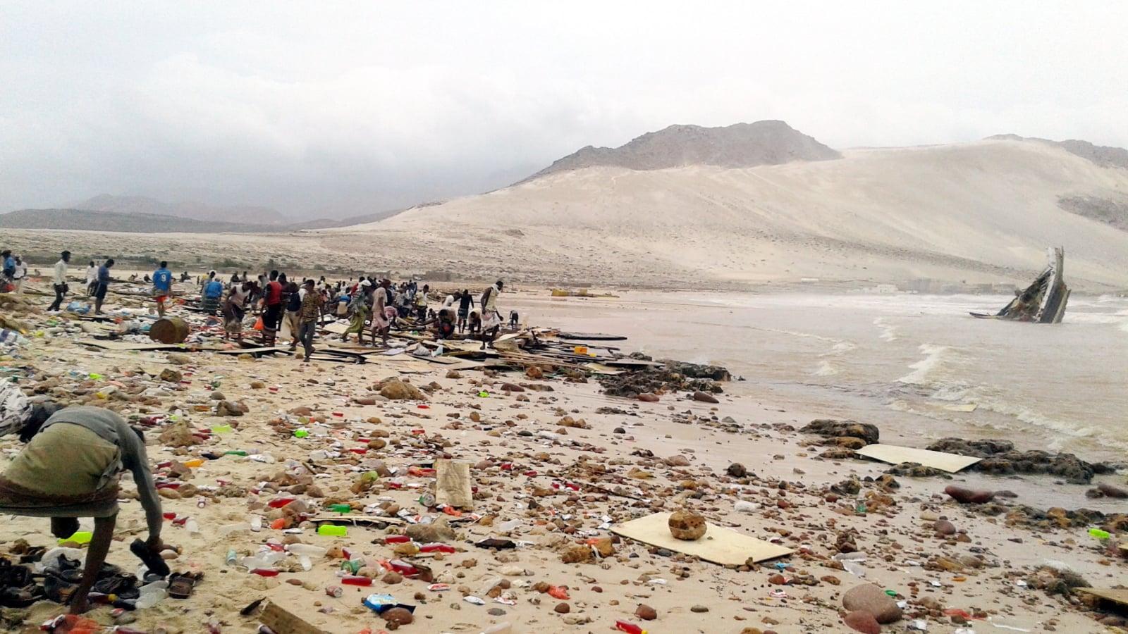 Skutki cyklonu w Jemenie fot. EPA/STRINGER