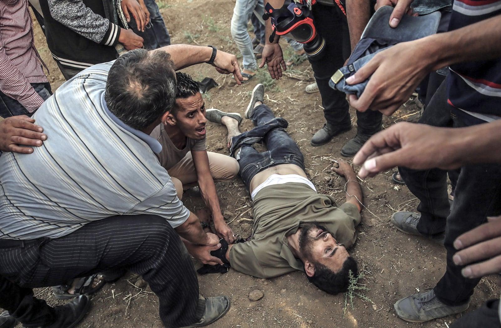 Konflikt palestyńsko-izraelski fot. EPA/MOHAMMED SABER