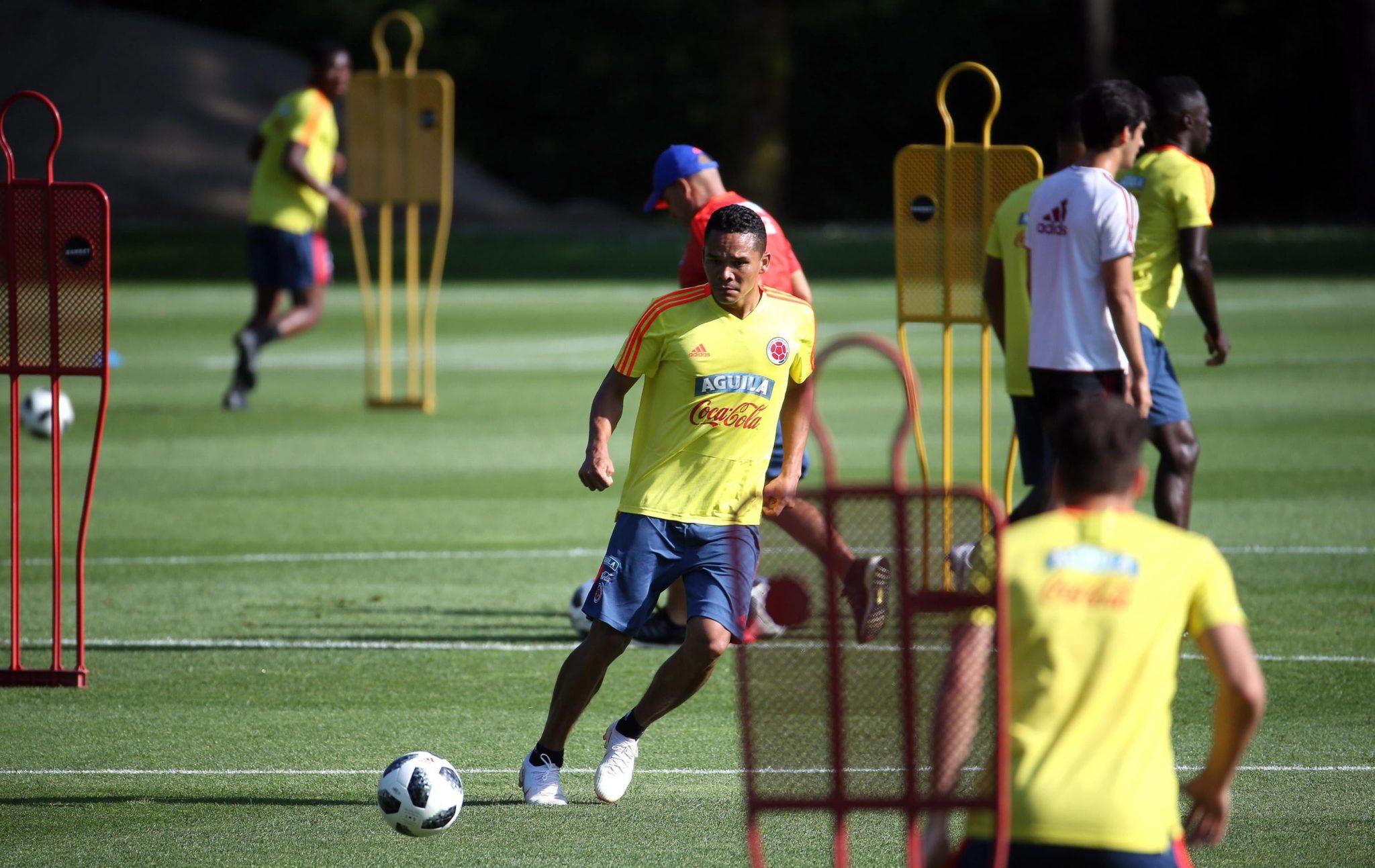Włochy, Mediolan: kolumbijska reprezentacja piłkarska przygotowuje się do Mundialu w Rosji, fot: Matteo Bazzi, PAP/EPA