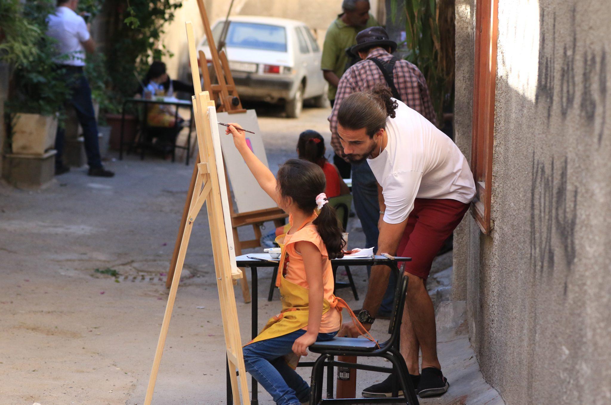 Syria: wystawa autorstwa dzieci o dzieciach z niepełnosprawnościami, wystawa w Damaszku zorganizowana przez organizację pozarządową, fot: Youssef Badaw, PAP/EPA