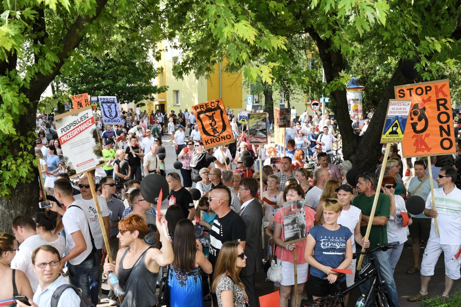 Protest w Mielcu fot. PAP/Darek Delmanowicz
