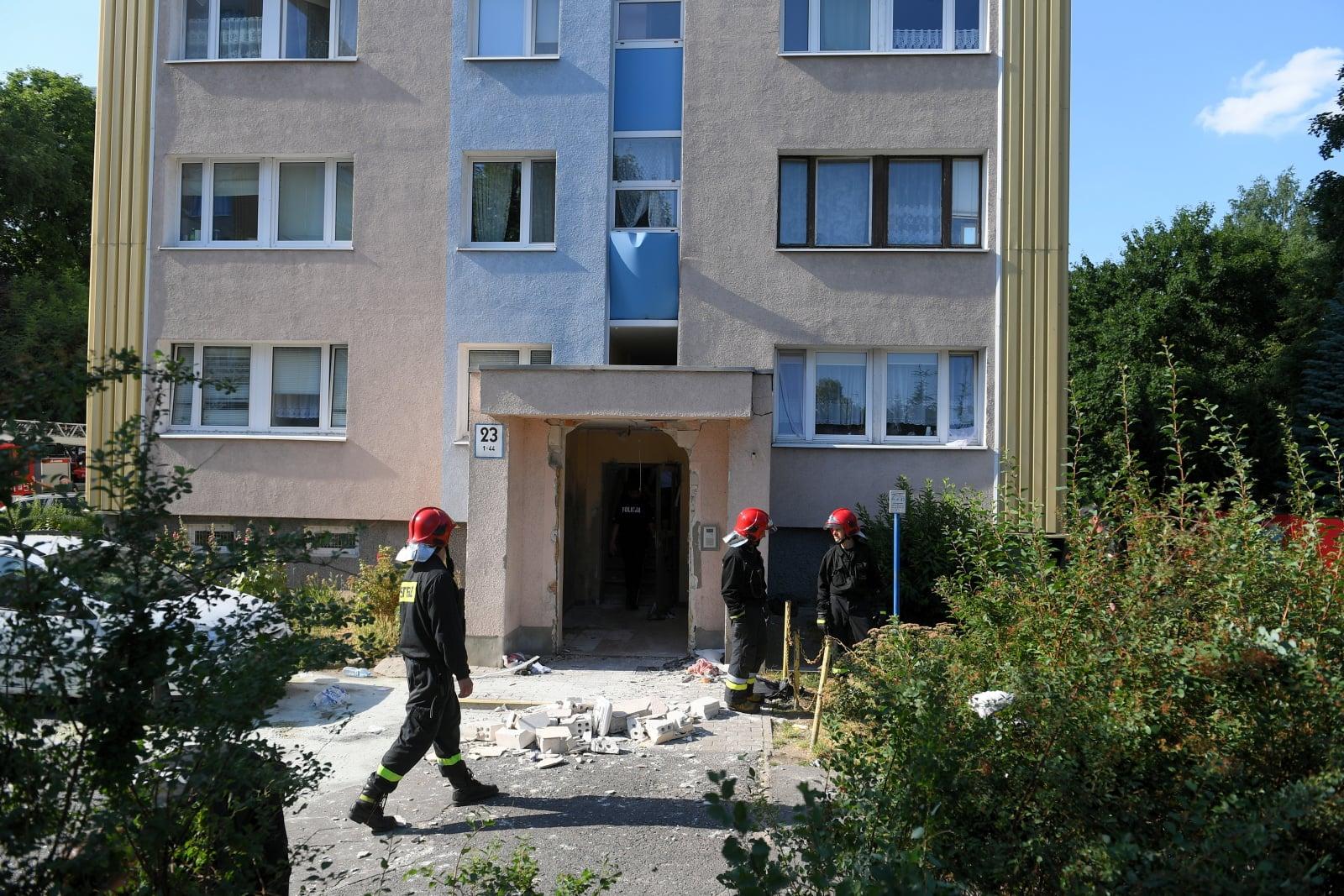 Wybuch budnku w Poznaniu fot. PAP/Jakub Kaczmarczyk