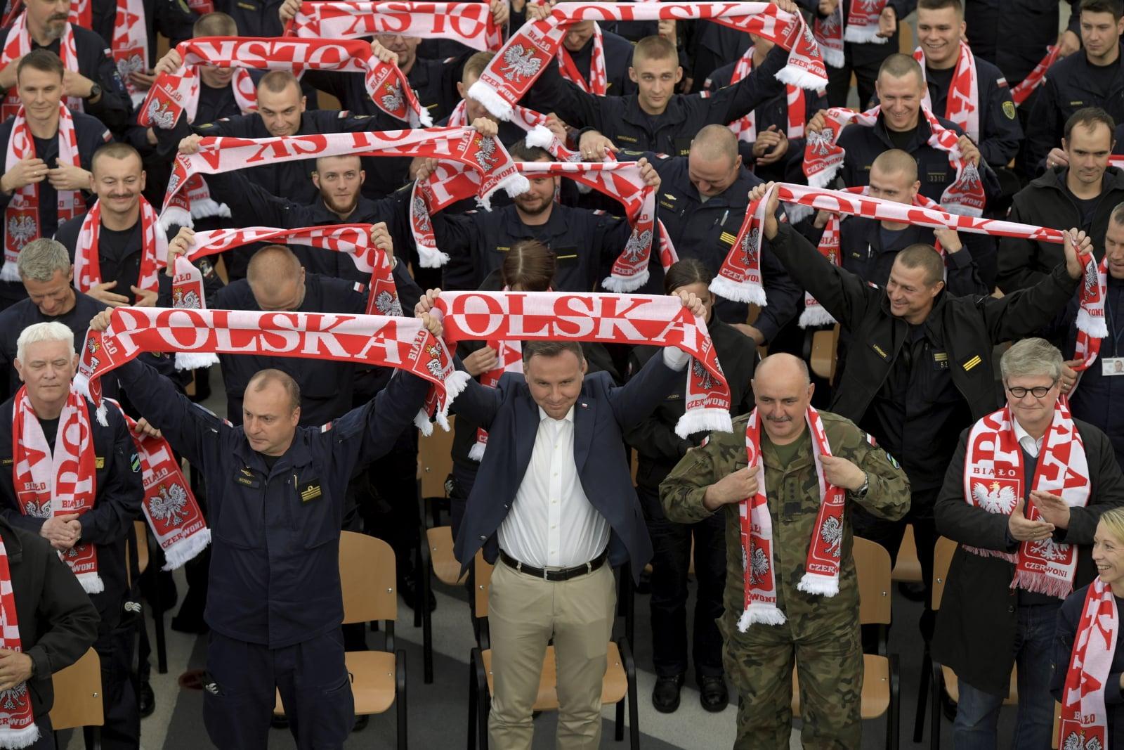 Prezydent Polski kibicuje reprezentacji fot. PAP/Adam Warzawa