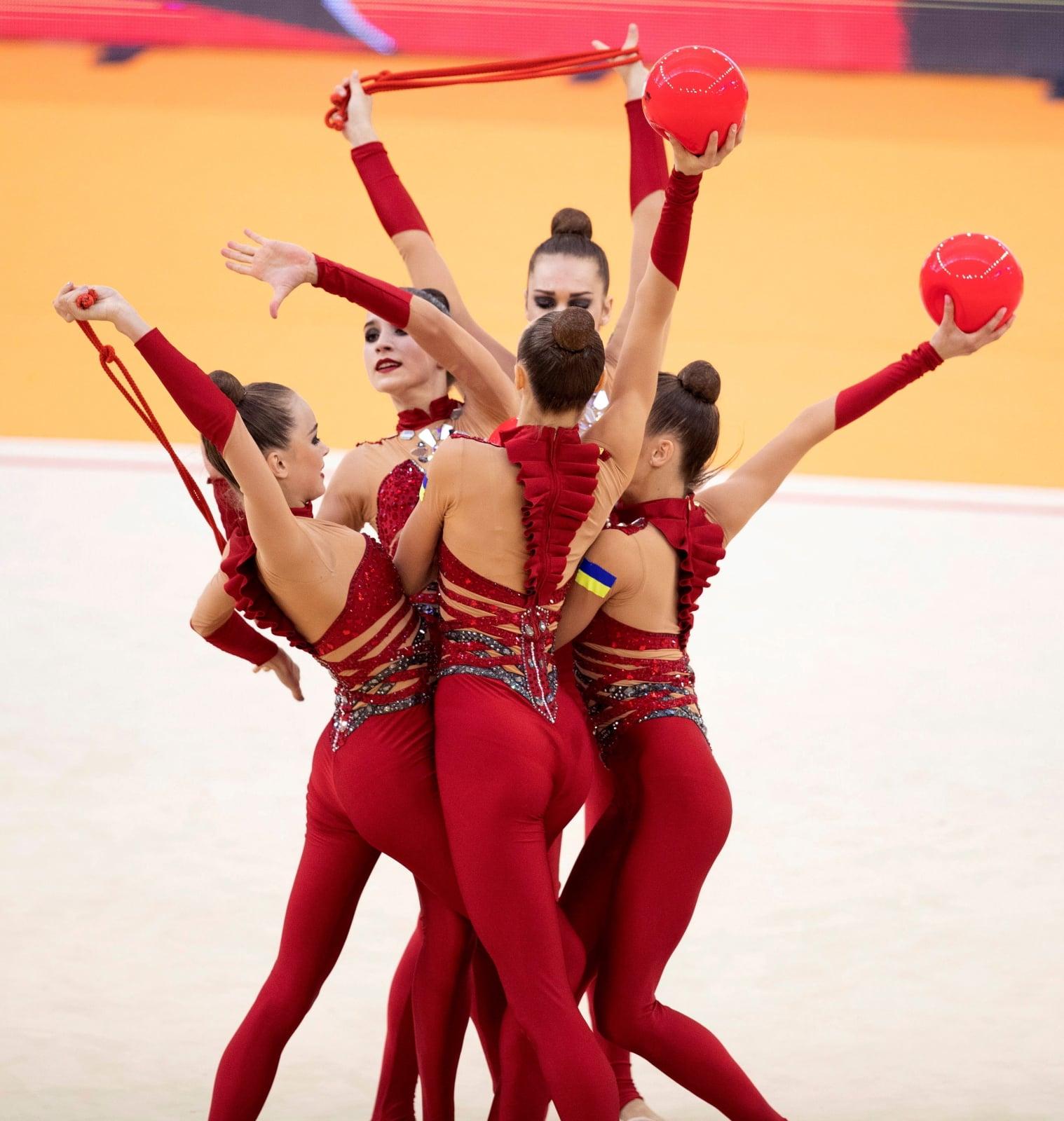 Ukraiński zespół na Europejskich Mistrzostwach w Gimnastyce Sportowej.