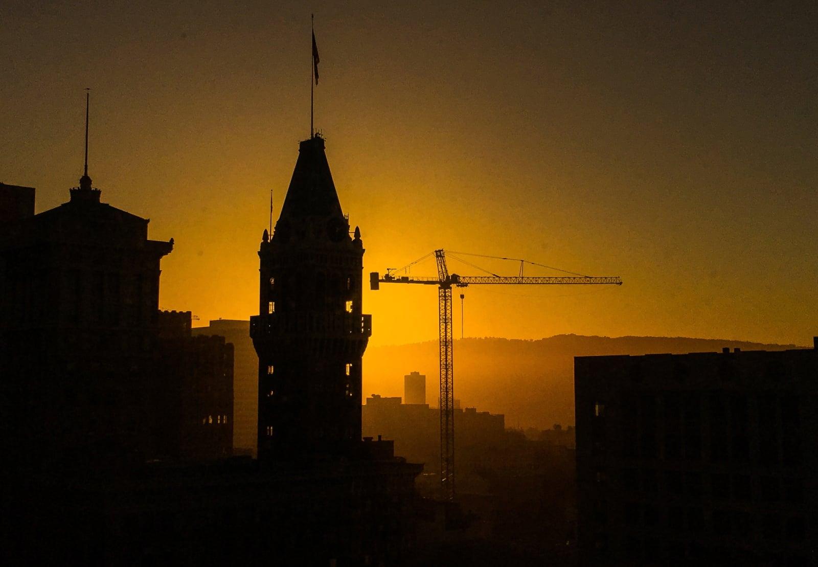 Zachód słońca w Kalifronii fot. EPA/LARRY W. SMITH