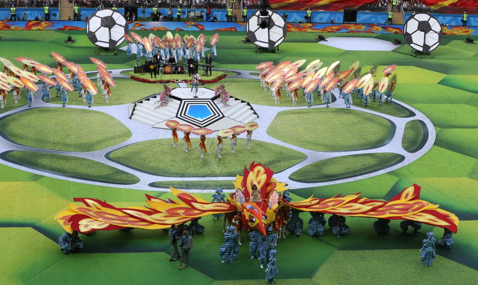 Ceremonia otwarcia Mundialu 2018, fot. EPA/ABEDIN TERKENAREH