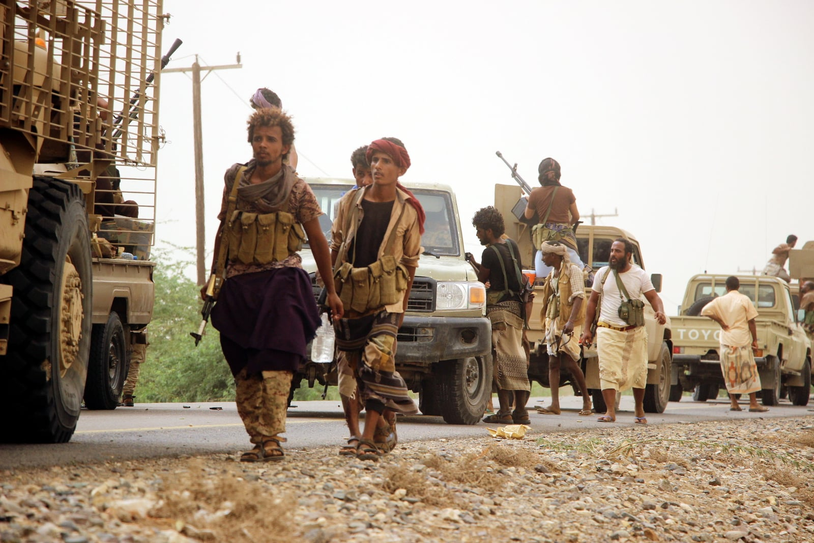 Konflikt w Jemenie fot. EPA/NAJEEB ALMAHBOOBI Dostawca: PAP/EPA.
