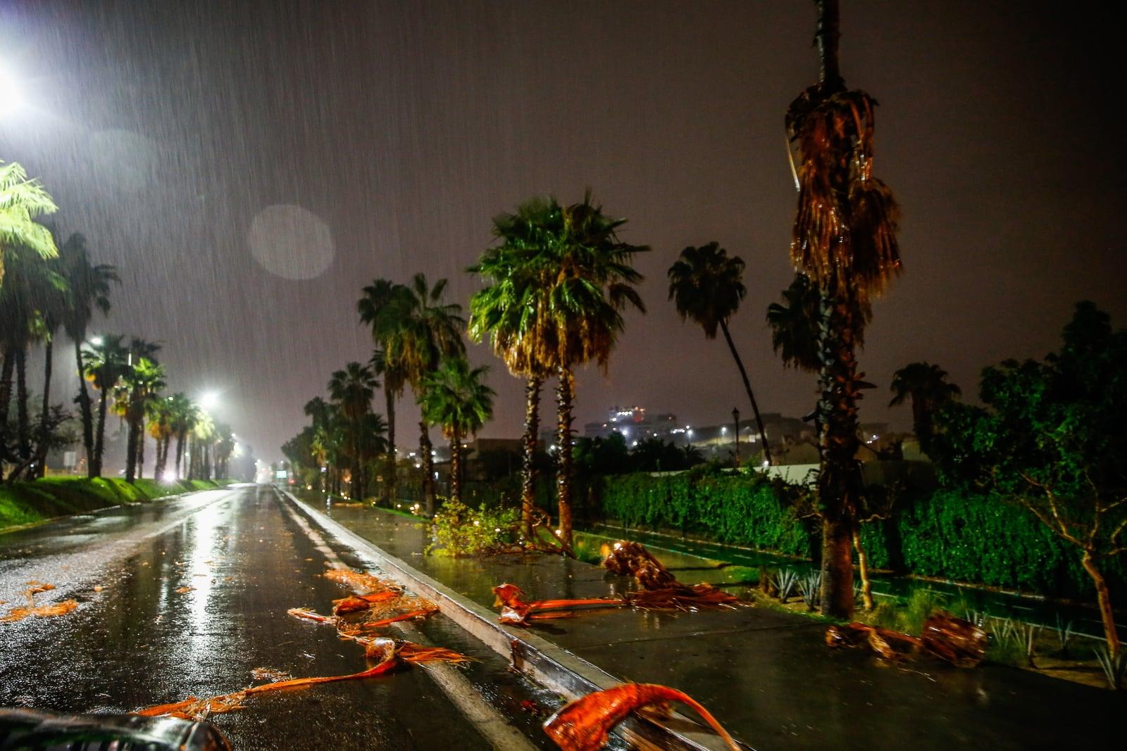 Tropikalny sztorm w Meksyku fot.  EPA/JORGE REYES Dostawca: PAP/EPA.
