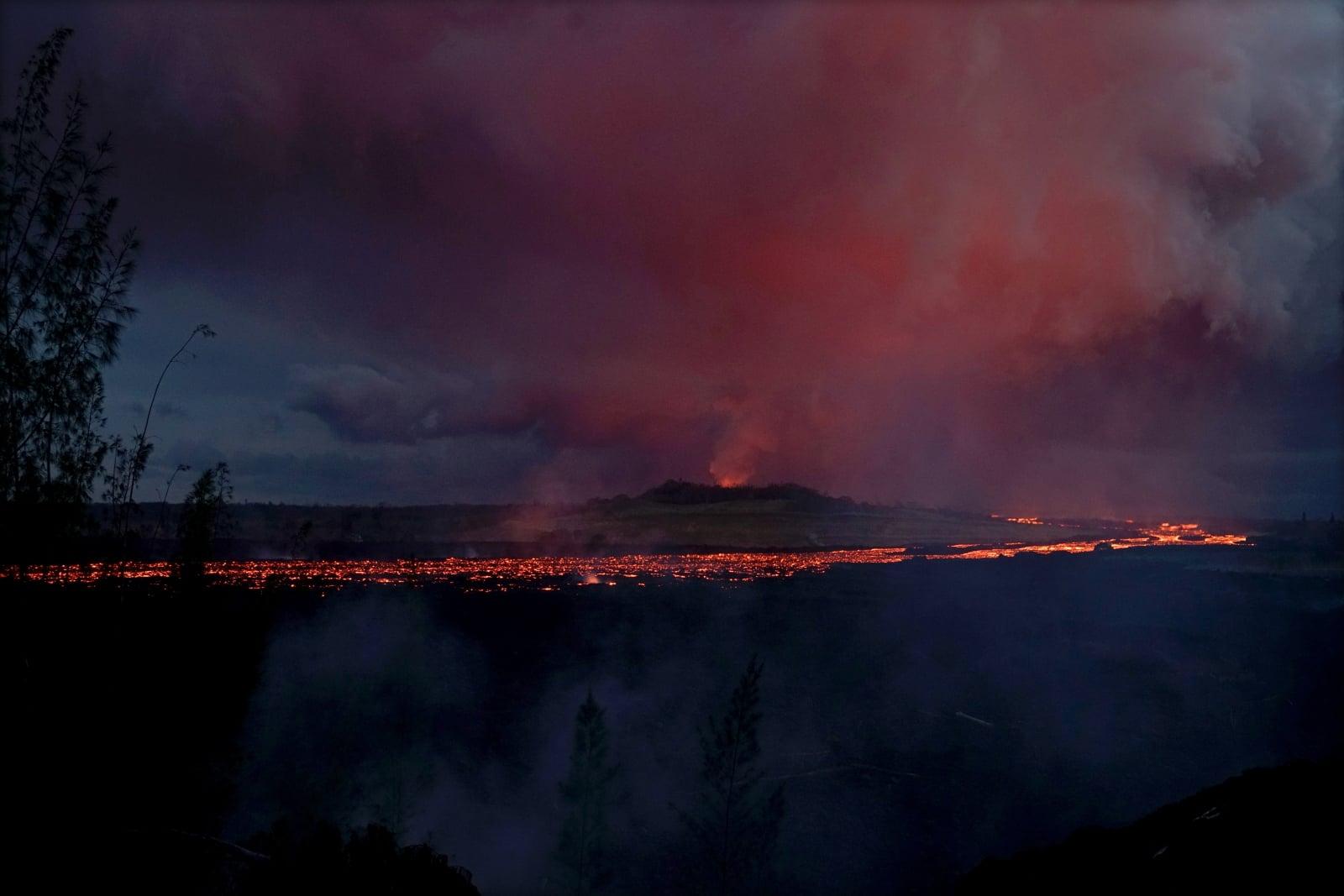 Hawajski wulkan fot. EPA/TECH. SGT. ANDREW JACKSON/US AIR Dostawca: PAP/EPA.