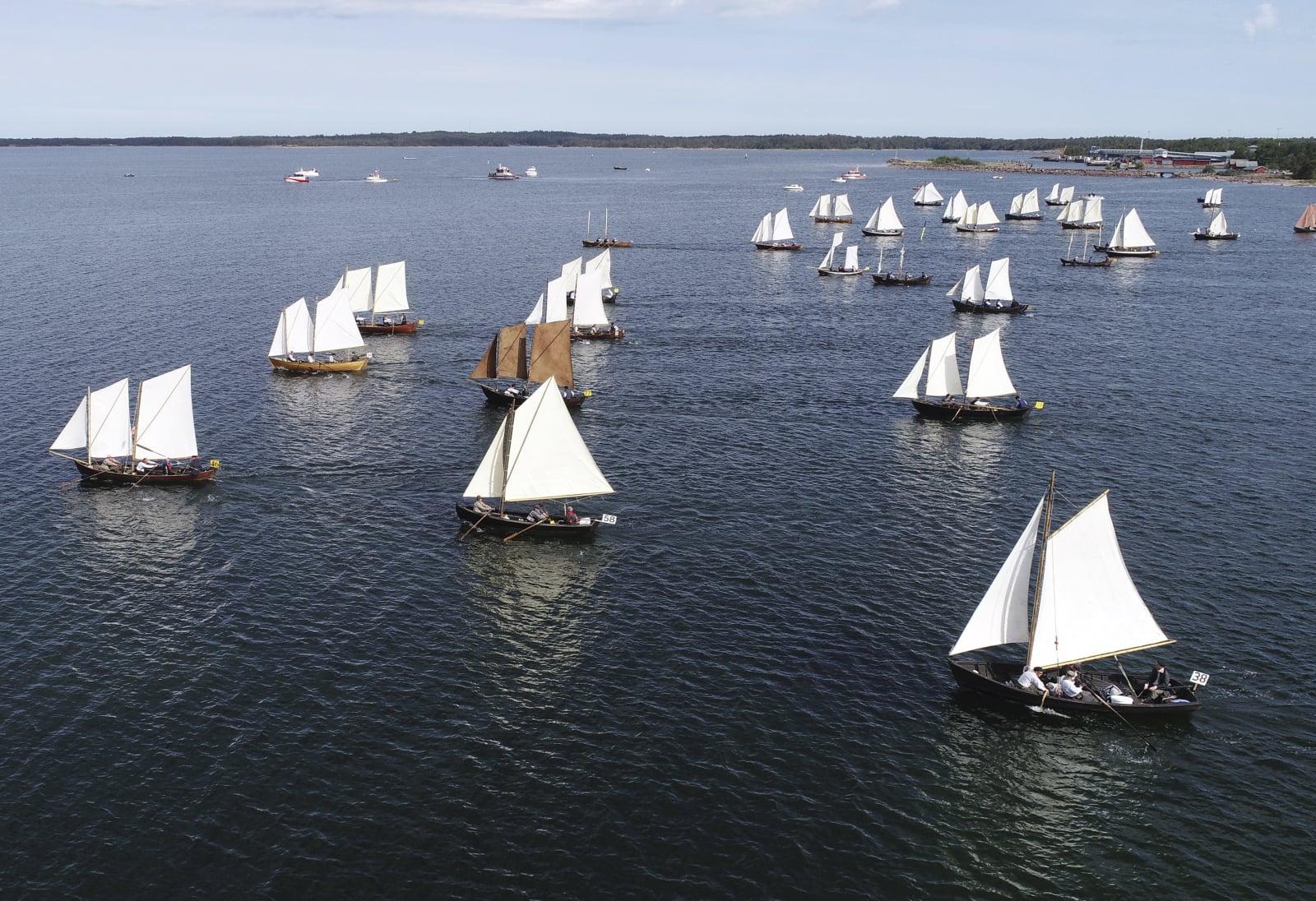 Turniej żeglarski w Szwecji fot. EPA/Fredrik Sandberg/TT
