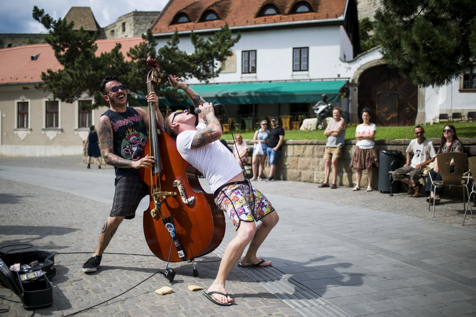 Dzień muzyczny na Węgrzech fot. EPA/Peter Komka HUNGARY OUT  Dostawca: PAP/EPA.