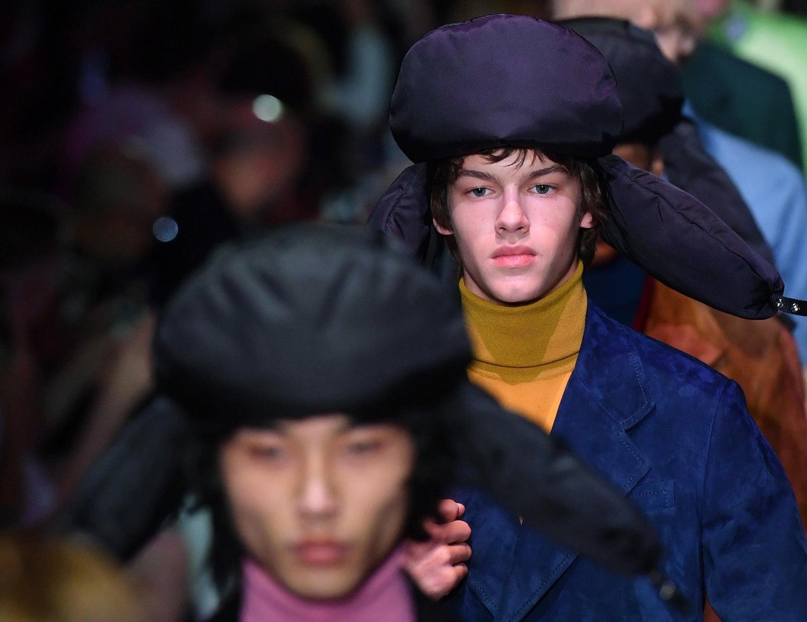 Fashion Week w Mediolanie fot. EPA/DANIEL DAL ZENNARO  Dostawca: PAP/EPA.