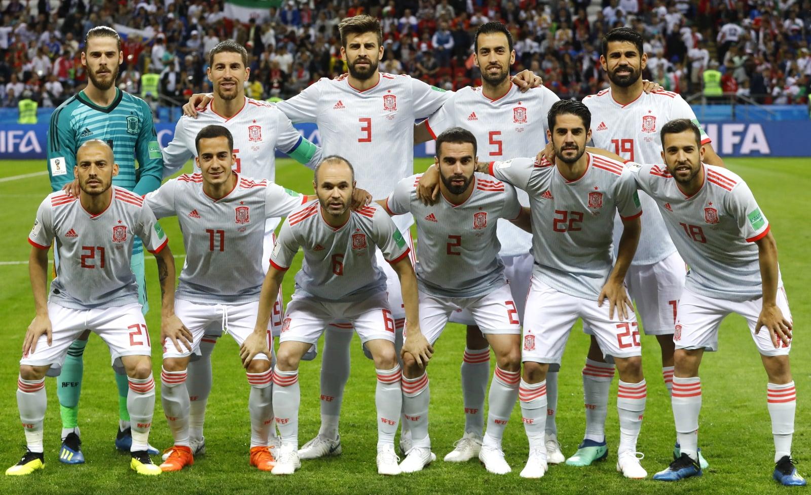 Hiszpania na Mundialu 2018 w meczu z Iranem  EPA/DIEGO AZUBEL