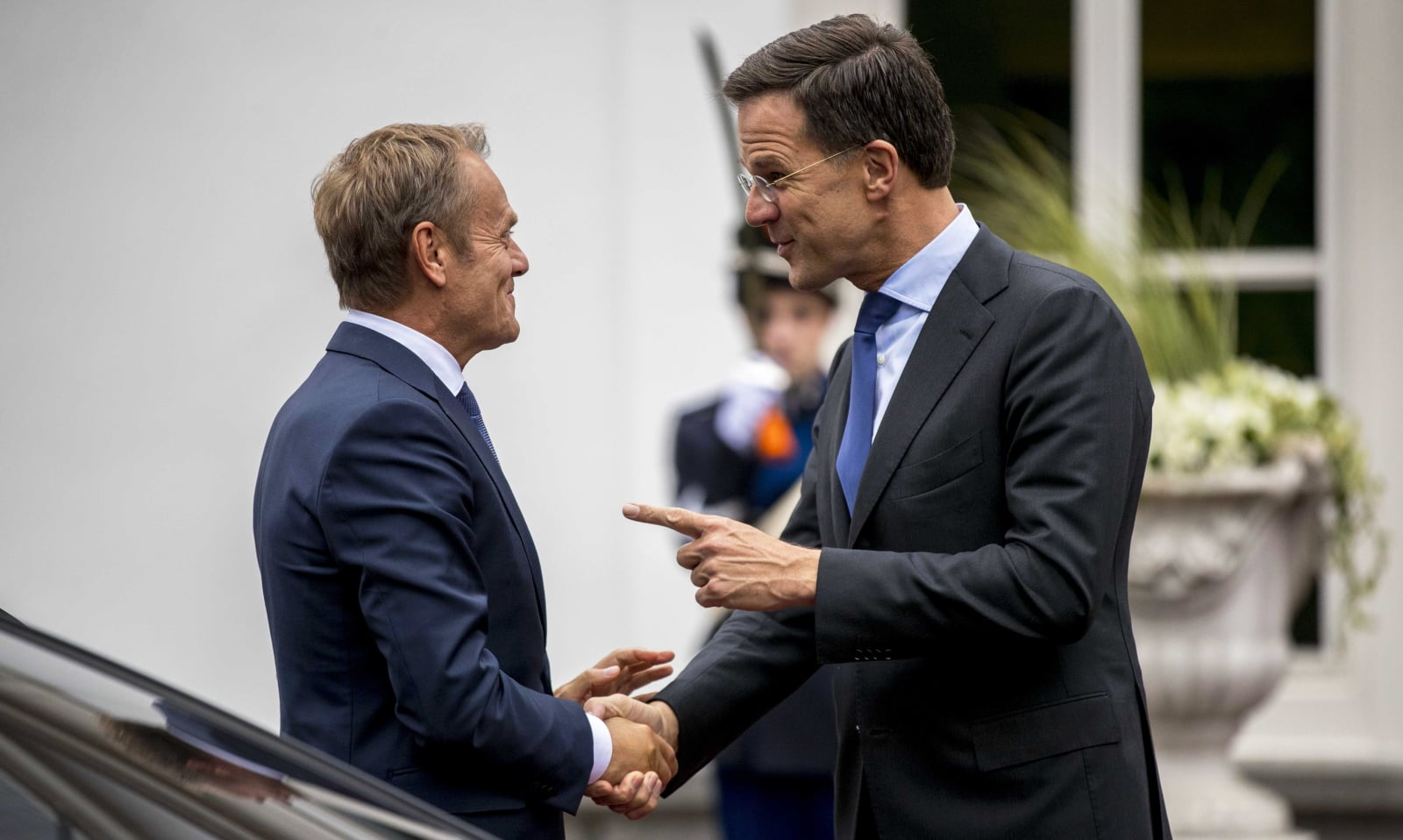 Spotkanie Donalda Tuska z premierem Holandii. fot. EPA/JERRY LAMPEN