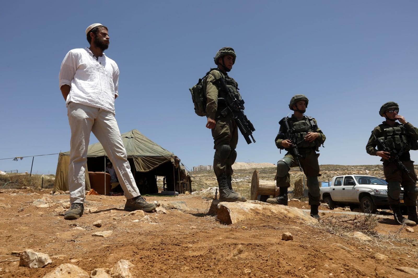 Protest Palestyńczyków fot. EPA/ABED AL HASHLAMOUN