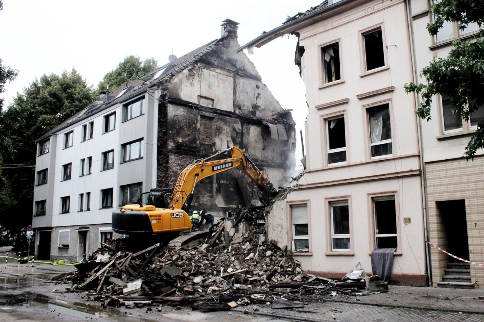 Wybuch w Niemczech fot. EPA/Christoph Petersen Dostawca: PAP/EPA.