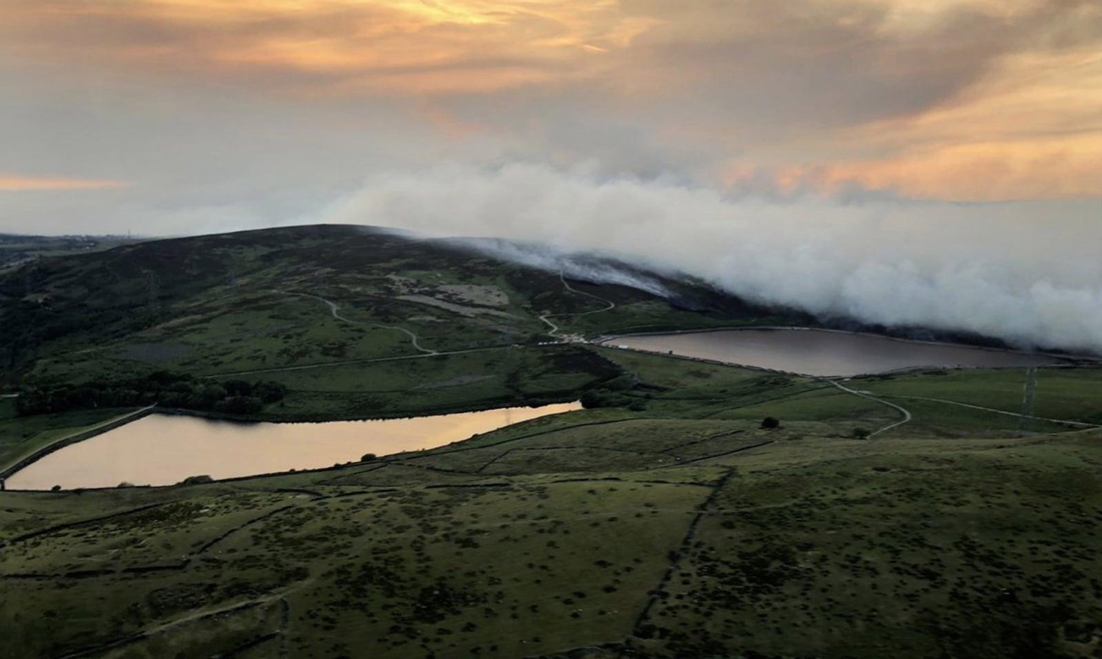 Pożar wrzosowisk w Anglii EPA/NPAS
