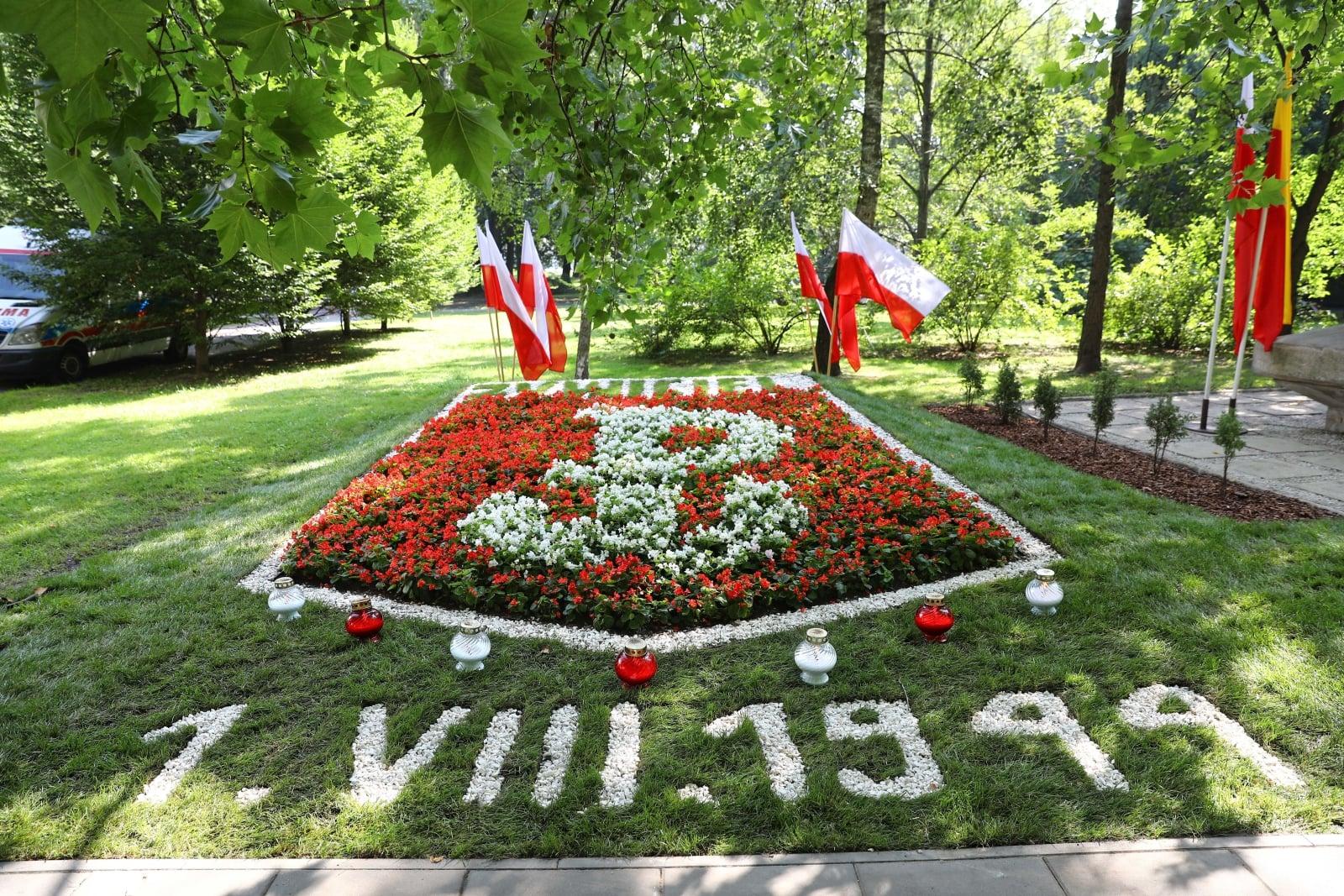 Uroczystoœci w ramach obchodów 74. rocznicy wybuchu Powstania Warszawskiego w Warszawie, fot. PAP/Rafał Guz