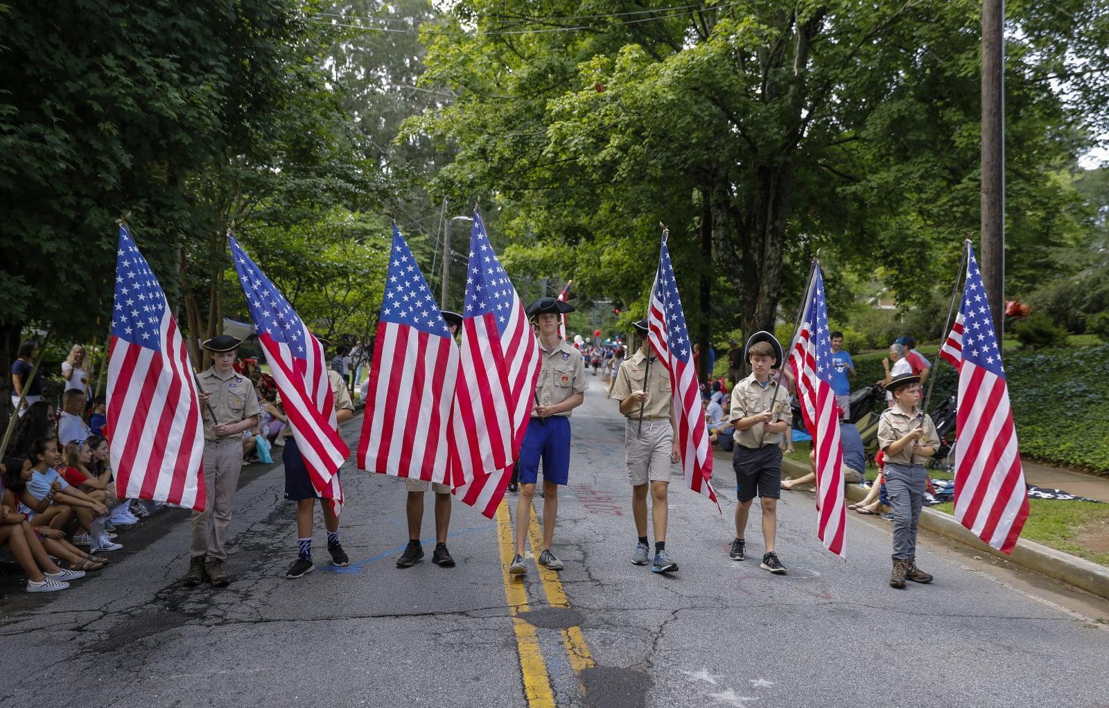 Dzień Niepodległości w stanie Georgia, USA. Fot. EPA/ERIK S. LESSER