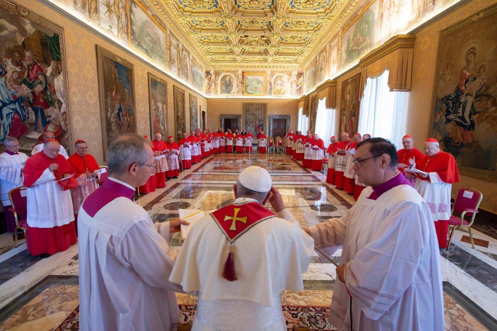 Zwyczajny Konsystorz w Watykanie, fot. EPA/VATICAN MEDIA