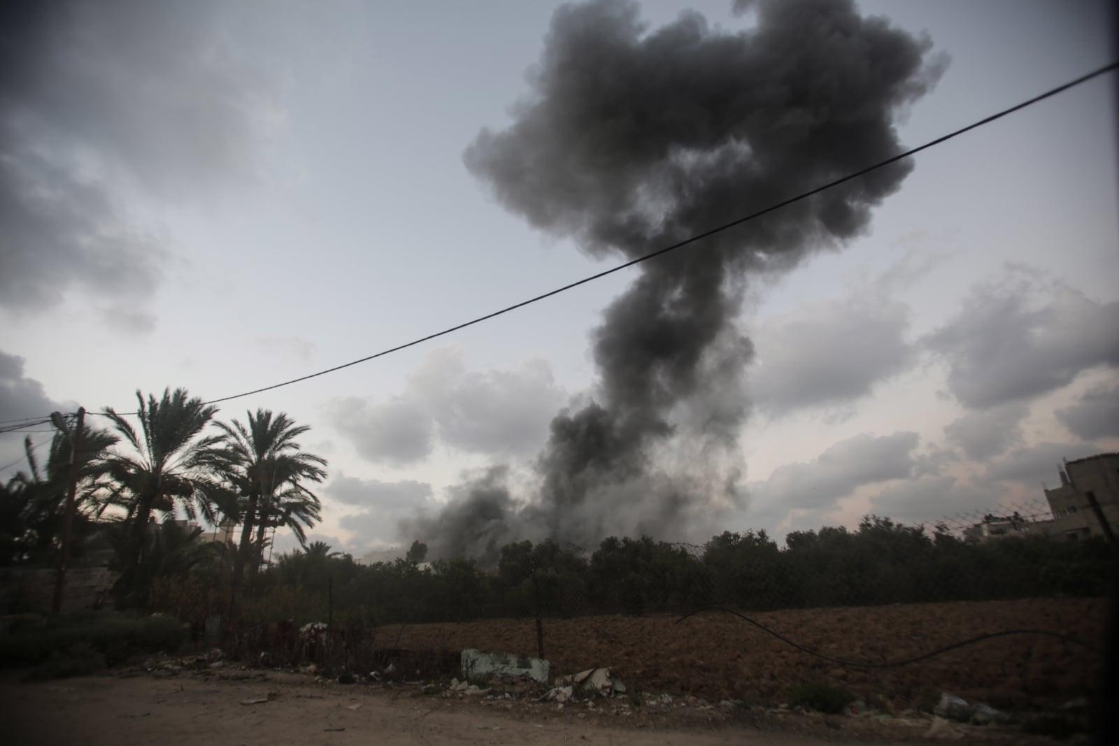 Zamieszki w Strefie Gazy fot. EPA/HAITHAM IMAD