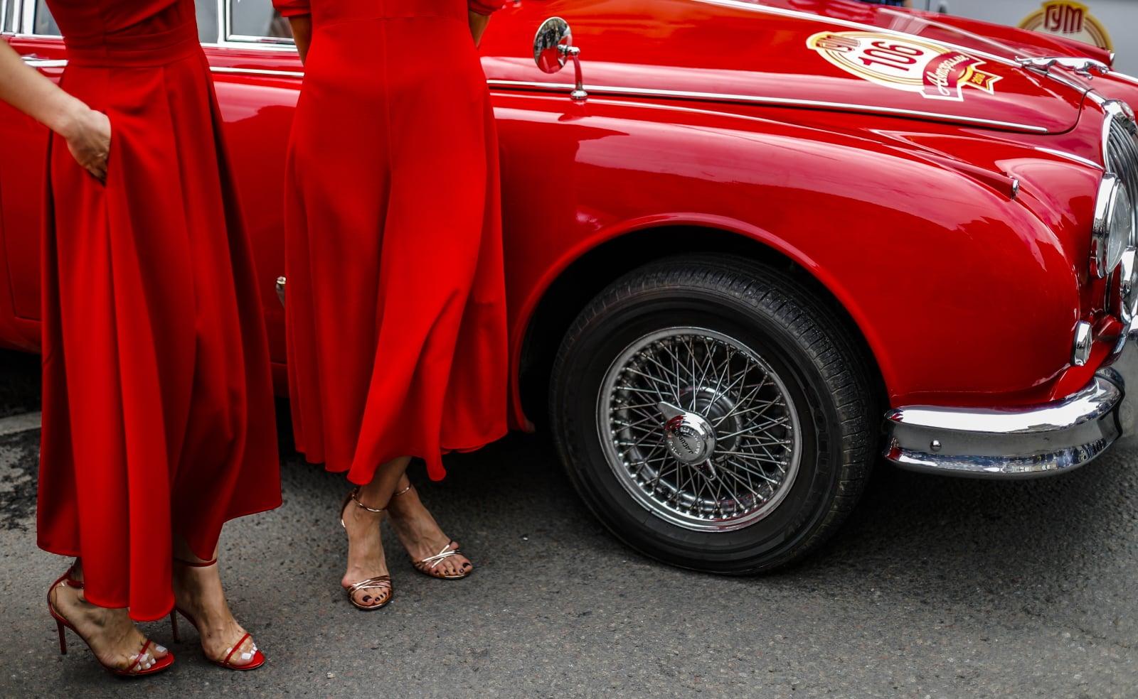 Rosyjski rajd klasycznych samochodów fot. EPA/SERGEI ILNITSKY
