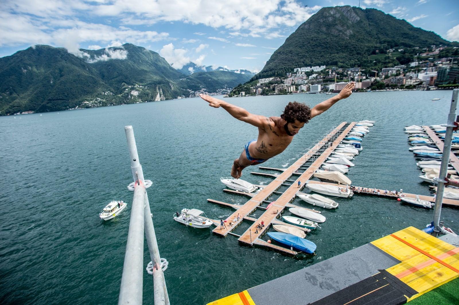 Konkurs skoków do wody w Szwajcarii fot. EPA/FRANCESCA AGOSTA