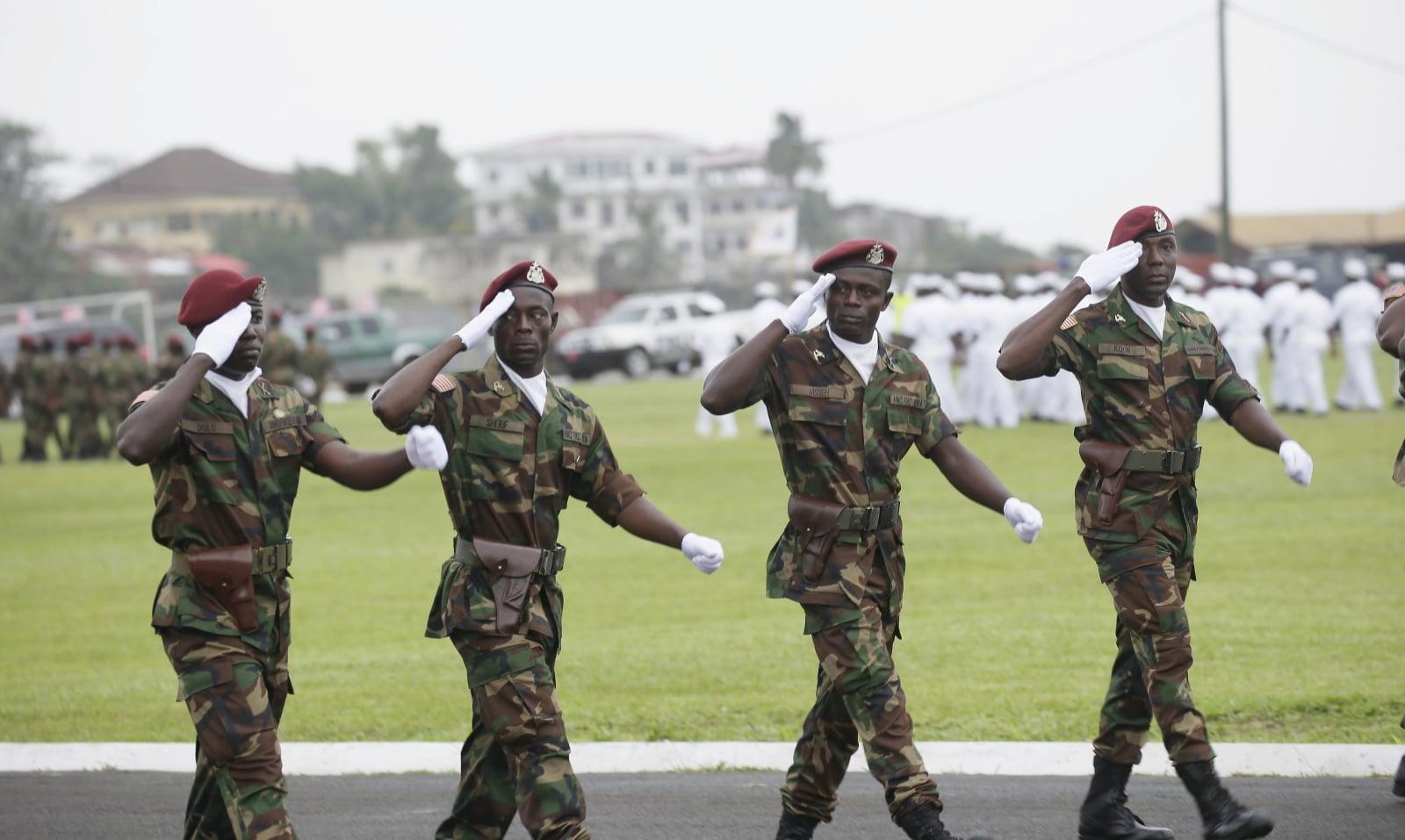 Obchody 171 lat niepodległości Liberii w Ośrodku Szkolenia Barclay w Monrow, fot.  EPA/AHMED JALLANZO