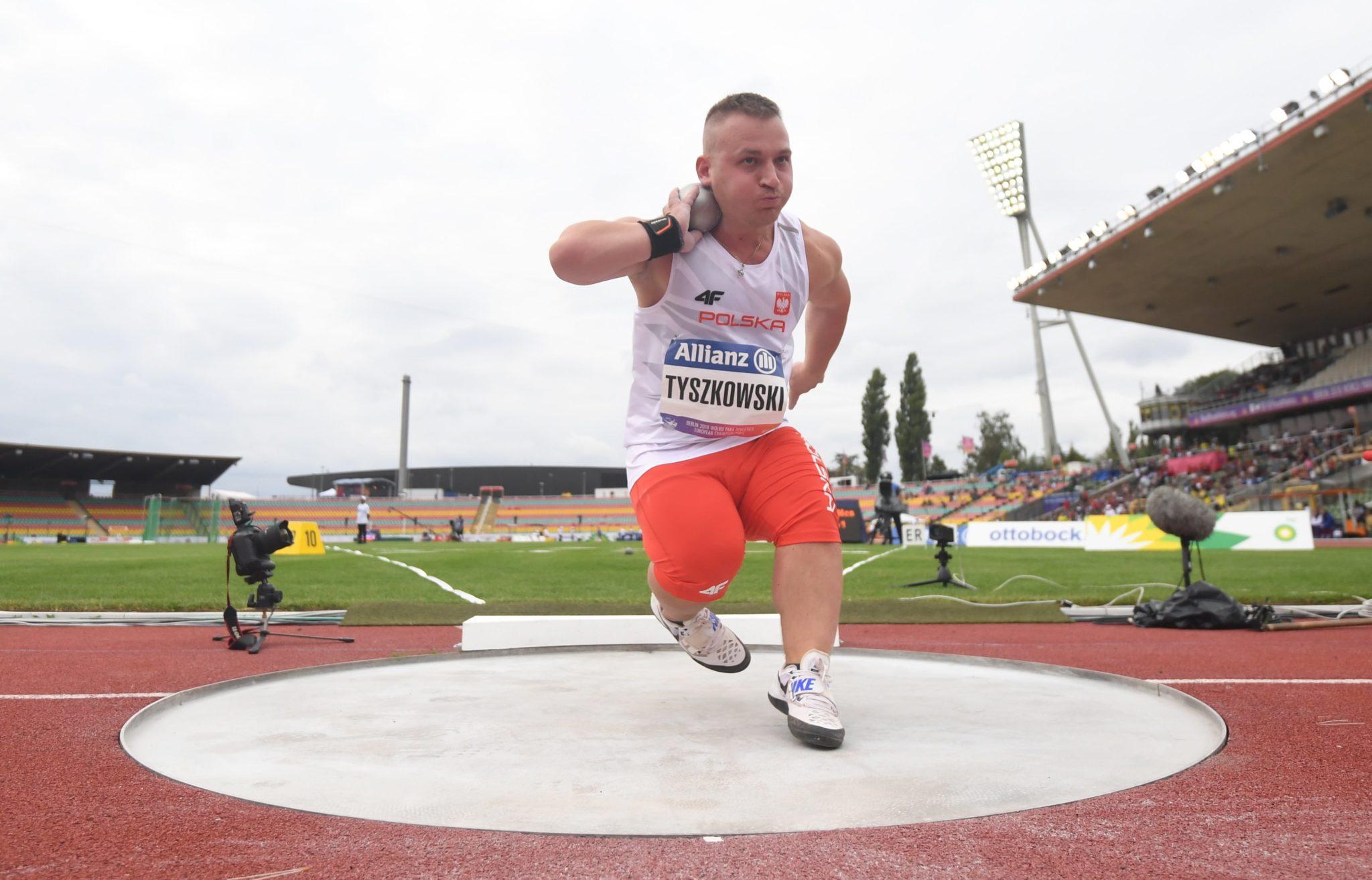 Bartosz Tyszkowski w finale pchnięcia kulą
