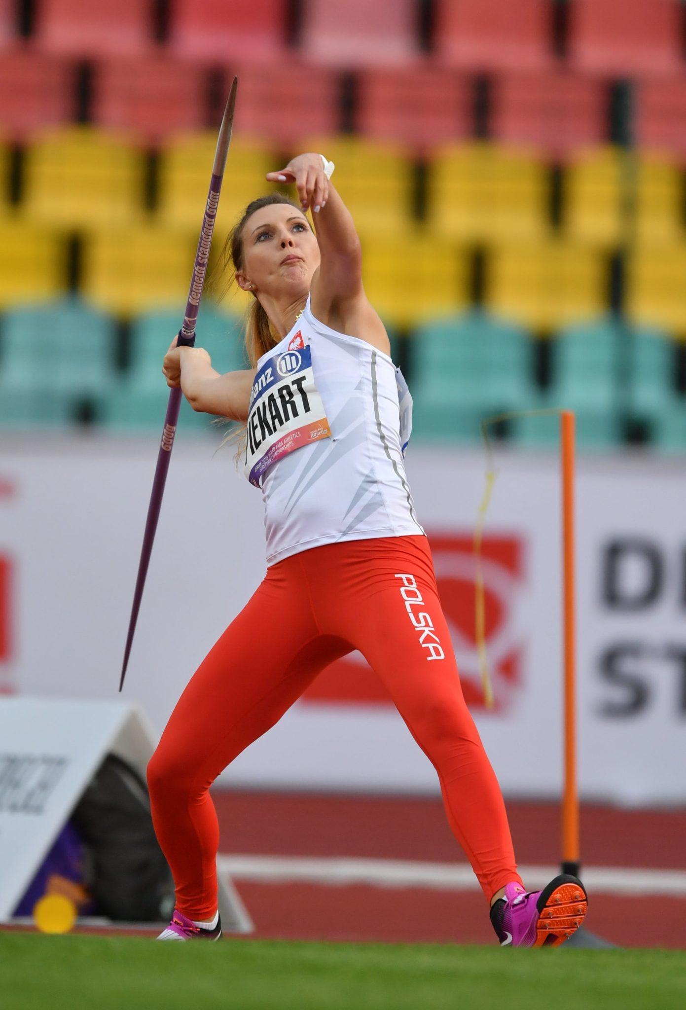 Katarzyna Piekart w finale rzutu oszczepem