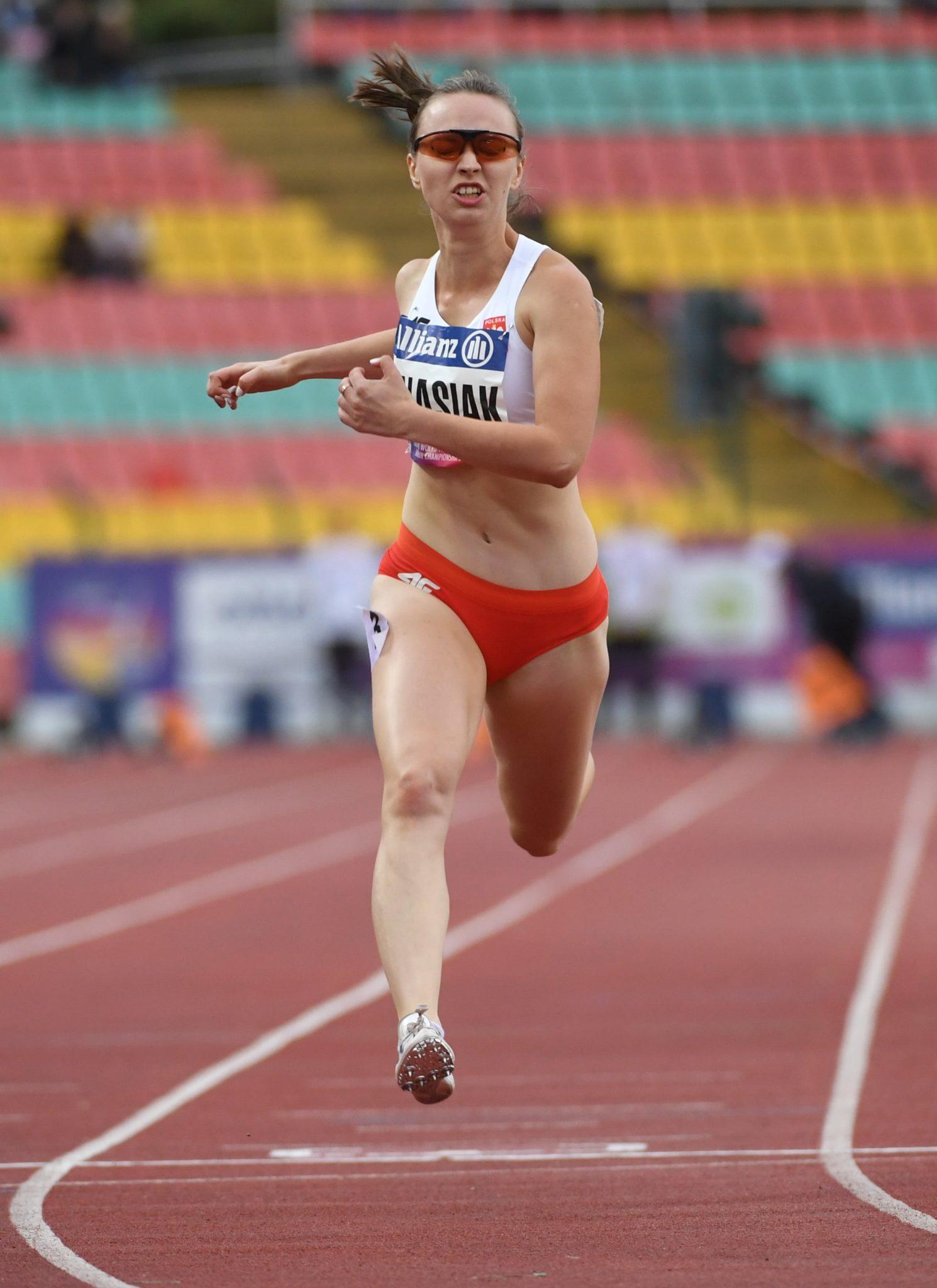 Małgorzata Ignasiak w eliminacjach biegu na 100 m