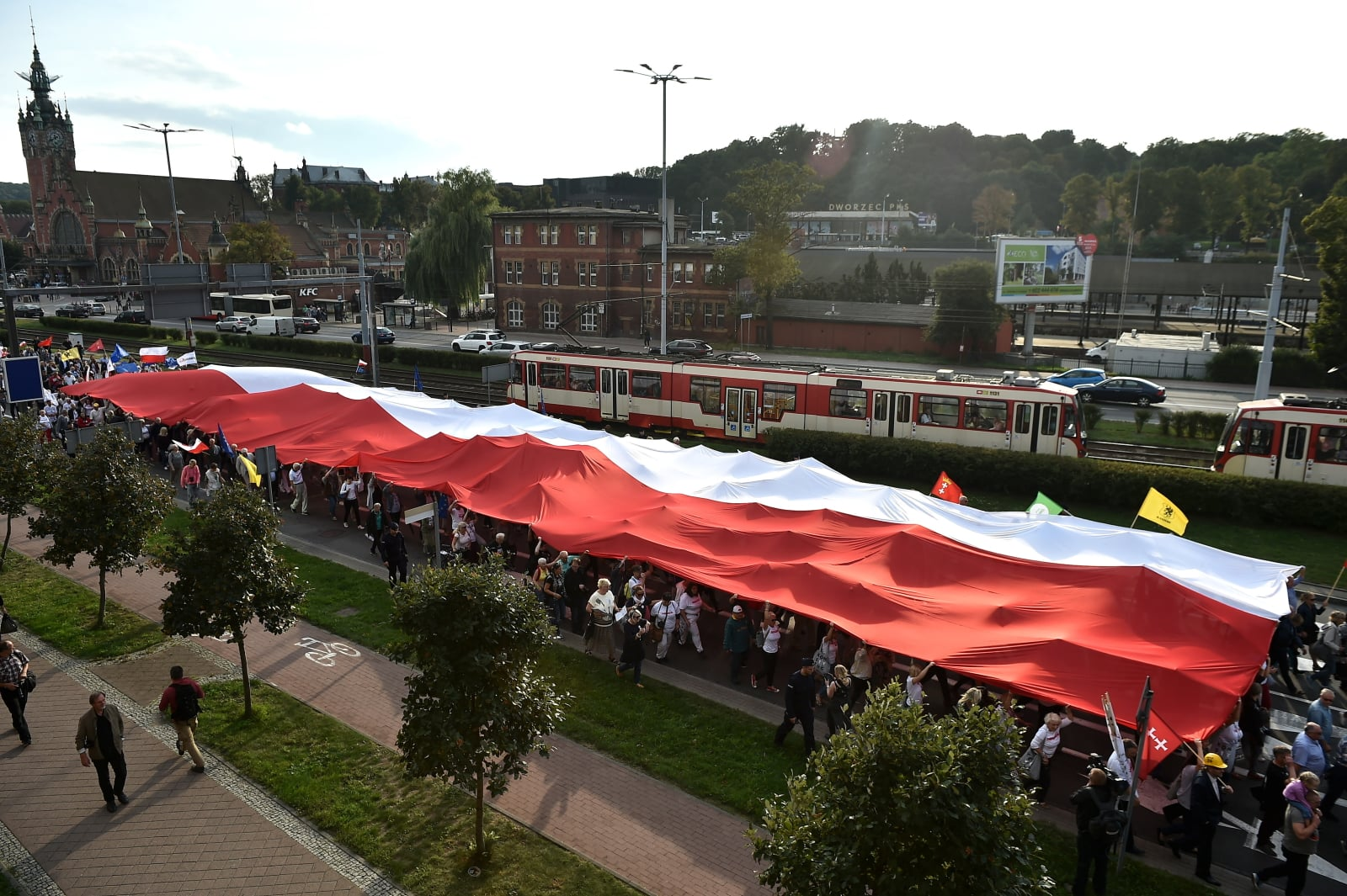 Marsz sektorówki wyruszył sprzed Sądu Okręgowego w Gdańsku. Fot. PAP/Marcin Gadomski
