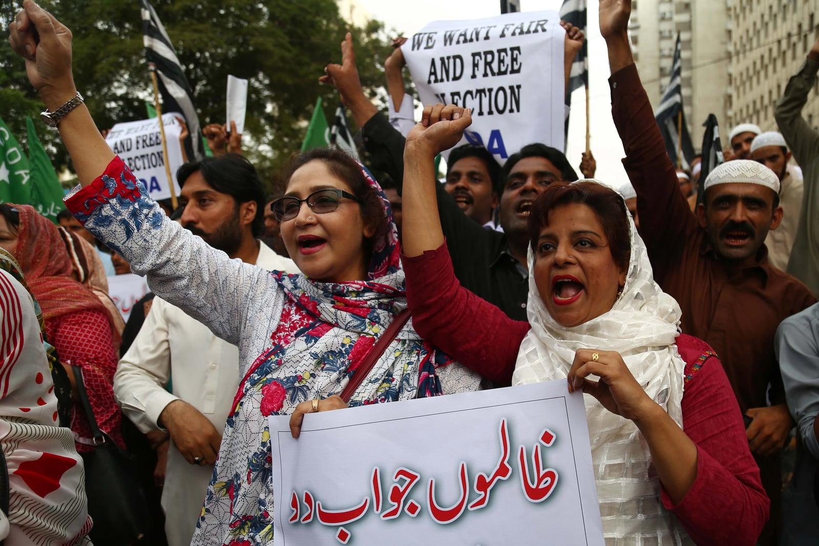 Wybory w Pakistanie. fot. EPA/SHAHZAIB AKBER