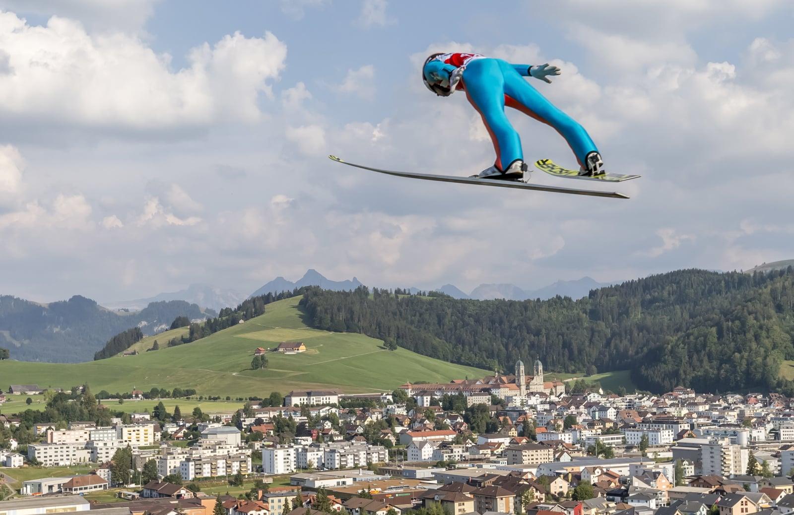 Letnie GP w skokach narciarskich w Einsiedeln. fot. EPA/THOMAS HODEL