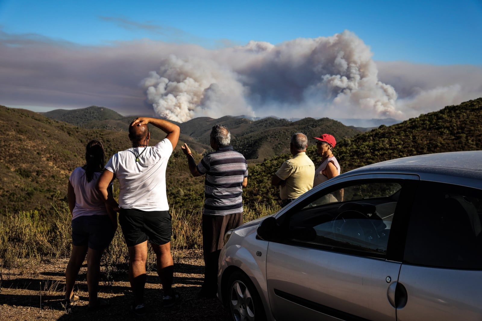 Pożary w Hiszpanii fot. EPA/MIGUEL A. LOPES