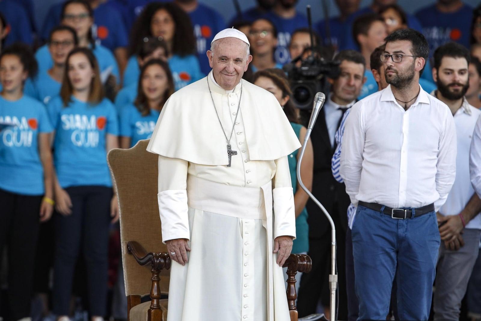 Papież Franciszek uczestniczy w modlitwach w Circus Maximus